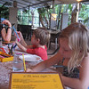 The beach shack - our favorite restaurant in Port Douglas -- when the kids were bored - right to the sand they went