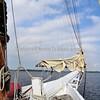 Skipjack (Oyster Boat). Sailing in Chesapeake Bay, MD