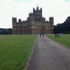 Highclere Castle, home to Downton Abbey characters.   London, England.   UK Vacation 2014-07-15