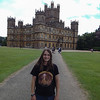 Lexie at Highclere Castle.   London, England.   UK Vacation 2014-07-15