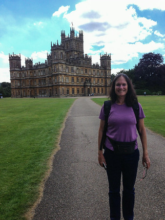 Downton Abbey (Highclere Castle and Bampton), England, July, 2014