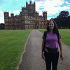 Audrey at Highclere Castle.   London, England.   UK Vacation 2014-07-15