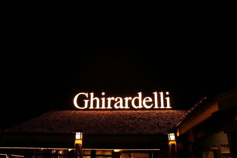 An exact reproduction of the sign that is in San Francisco's Ghirardelli Square.
