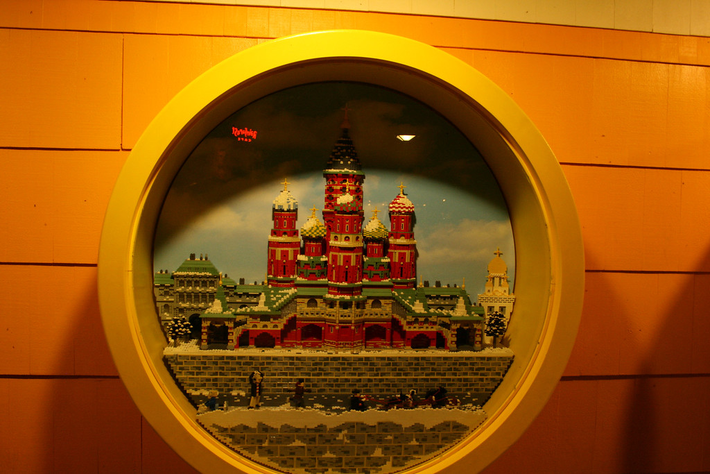 This is a reproduction of St. Petersburgh Russia made out of Legos