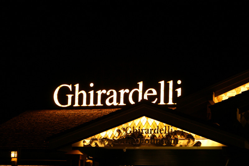Inside of Pleasure Island is a reproduction of San Francisco's Ghirardelli Square....complete with the chocolate shop.