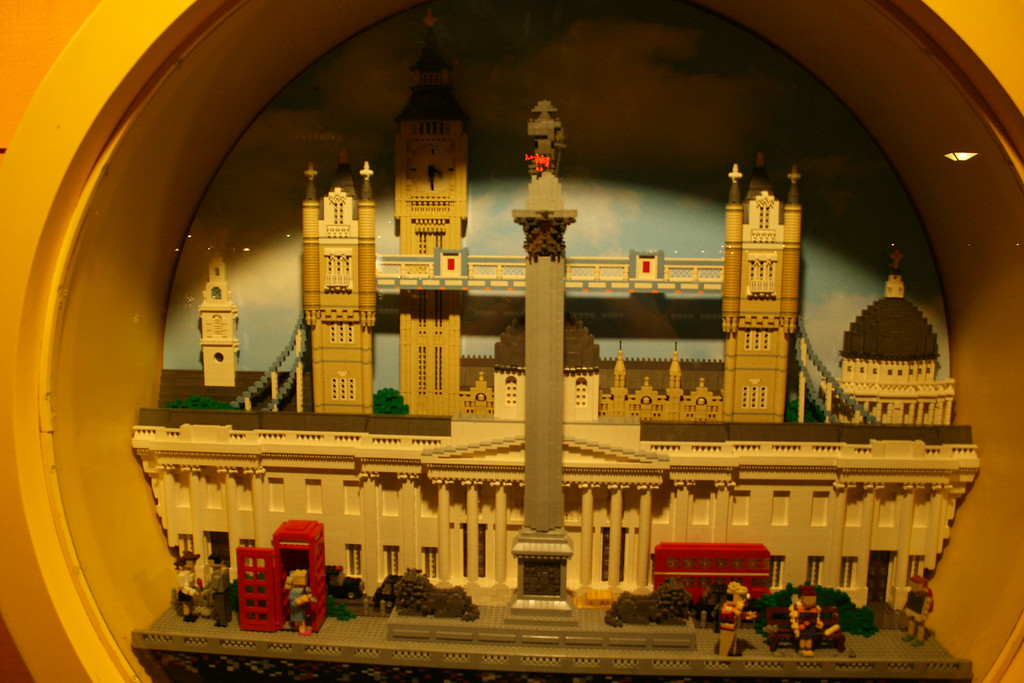 This is a London scene made out of Legos