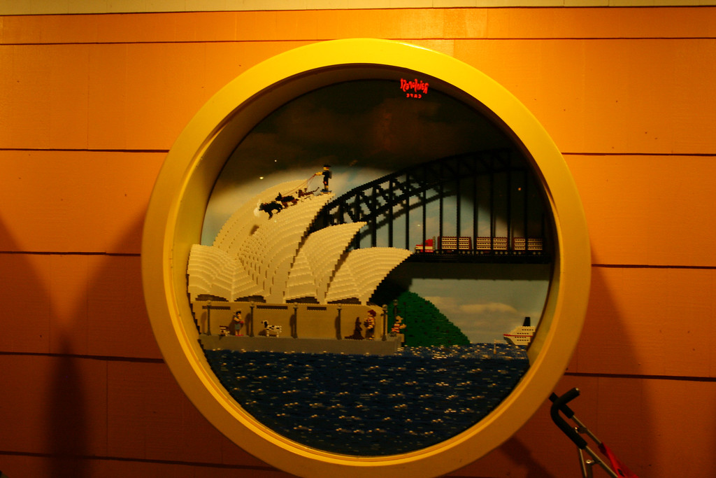 Here is a reproduction of the Sydney Opera House made out of Legos