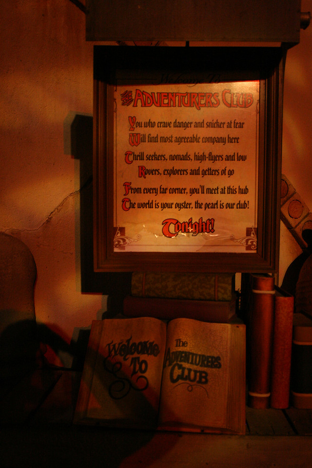 The warning and guest book, shot in portrait mode and with natural light, for the Adventurers club.