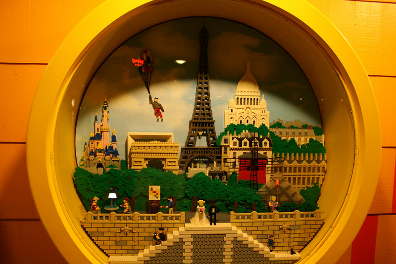 This is a Paris scene made out of Legos