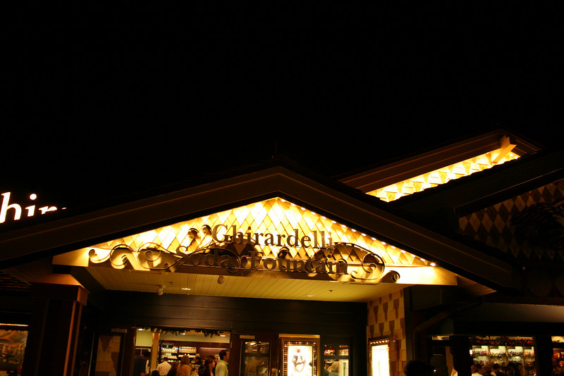 The entrance to Ghirardelli Chocolate