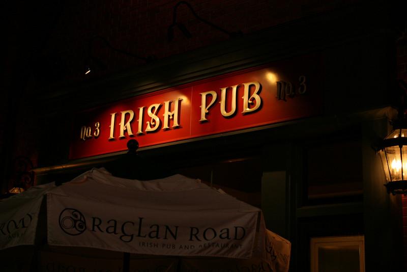 The front of the Raglin Road Irish Pub in Pleasure Island