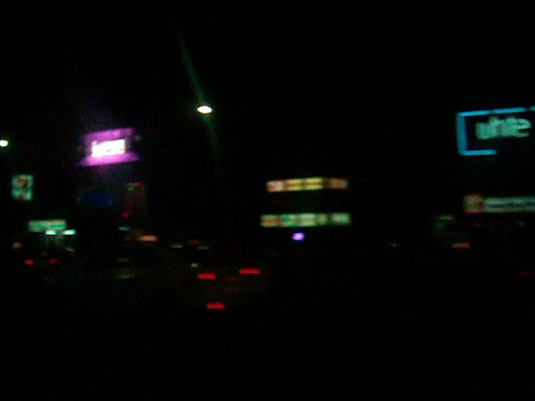 Downtown Manila at night on our way to Valenzuela City from Ninoy Aquino Int'l Airport