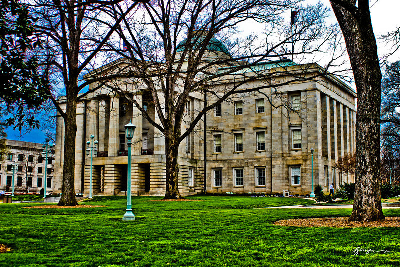 NC State Capitol building in downtown Raleigh, NC