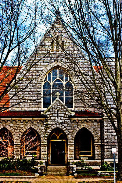 Another view of The Church of the Good Sheppard in Downtown Raleigh, NC