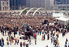 Henry Moore's sculpture The Archer at Nathan Philips Square Toronto Aug 72