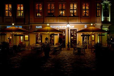 Kurfürstenhof (Neumarkt)    ( http://en.wikipedia.org/wiki/Neumarkt_(Dresden)  http://www.kurfuerstenhof-dresden.de/en/kontakt.html ).  A wonderful restaurant!