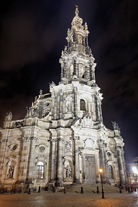 Hofkirche ( http://germany.archiseek.com/saxony/dresden/hofkirche.html ), one of several beautiful churches clustered in downtown Dresden.