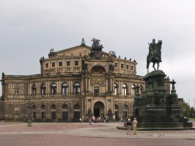 Theatre Square. Semper Opera House. Monument to King Frederick Augustus II