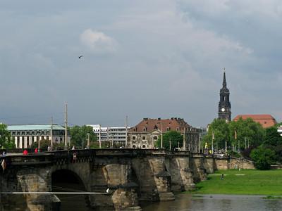 Bridge of Augustus. Left - Blockhouse (guard-Neustadt)