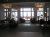 More of the lobby, looking out at Monterey Bay.