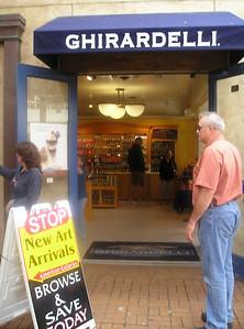 Yessss! Ghirardelli chocolateer.  And the hot-fudge sundaes were tasty, too.