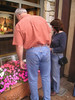 Bro-in-law and sis do a little artsy fartsy window shopping on their way through.