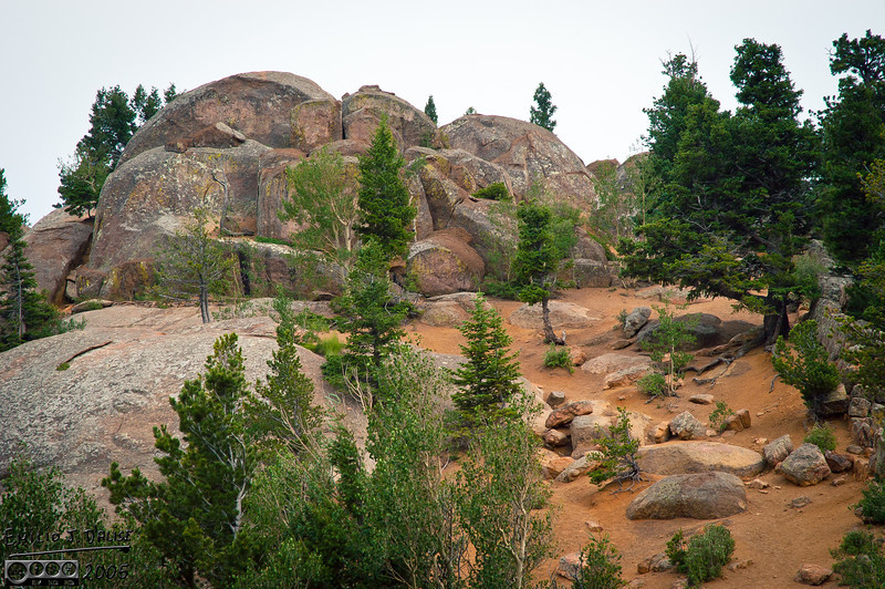 This spot offered up a fairly easy climb . . .