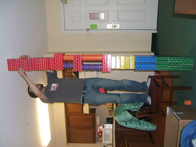 Christian building towers for the boys.