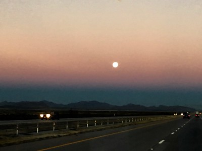 Moonset, west of Van Horn