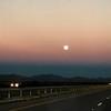 Moonset, west of Van Horn