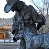 Bronze sculpture, downtown DuBois, WY, 11/24/2014.