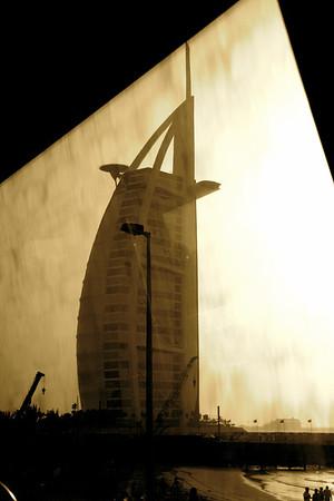 The iconic Burj al Arab, Dubai