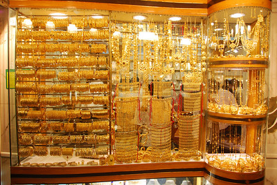 Shop window, Dubai gold souq.