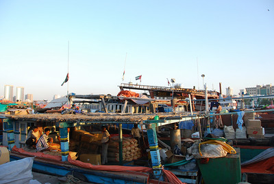 Dhows wait to be loaded.