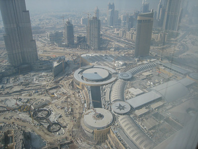 Taken from the 62nd floor of the Address hotel looking down at Dubai Mall, the world's largest shopping mall.