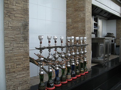 Shisha ready for the evening's customers.
