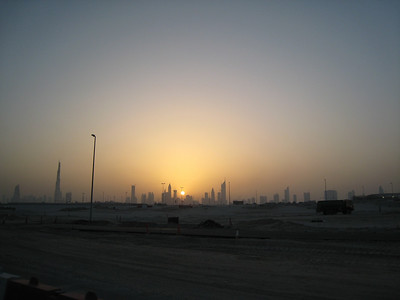 The sun sets on another day in Dubai.