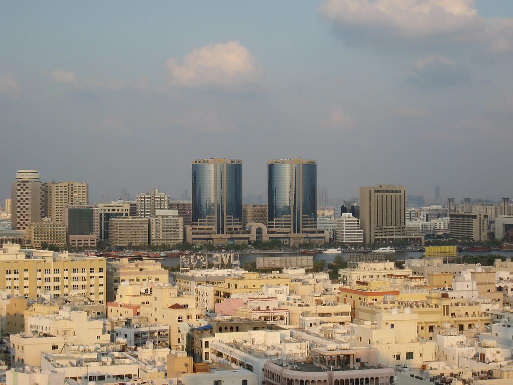 View over Deira from the Bur Dubai side.