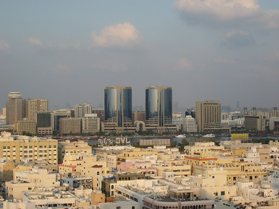 View over Deira from the Bur Dubai side.