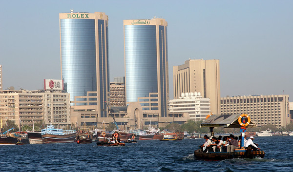 Dubai Creek - Abras and Dhows.