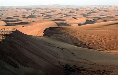 Desert sand dunes, inland UAE (about 60km from Dubai) - visited on 4WD desert safari.