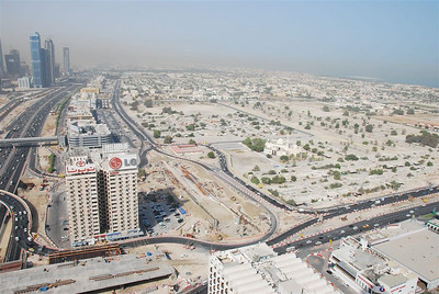 Looking down SZR, Al Wasl area on the right.