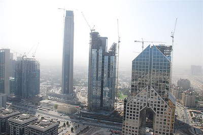 Dusit Hotel on the right and on the left are new developments along the road that goes past the Novetel and the Exhibition Hall parallel to SZR.