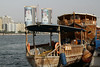Old Dubai Creek transportation (against backdrop of the new)