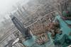 Dubai as seen from the Burj al Khalifa (in sandstorm)