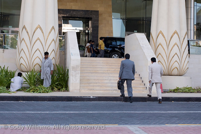 Outside the Wafi Mall in Dubai, United Arab Emirates (UAE), May 27, 2009. /© Cody Williams.