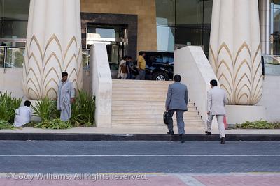 Outside the Wafi Mall in Dubai, United Arab Emirates (UAE), May 27, 2009. /© Cody Williams.