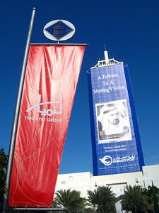 Outside Dubai Exhibition Center.