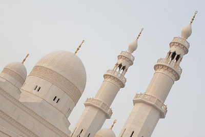 The relatively new Yaqub Mosque is located across from the Dhow Wharfage, near the Emirates National Bank.