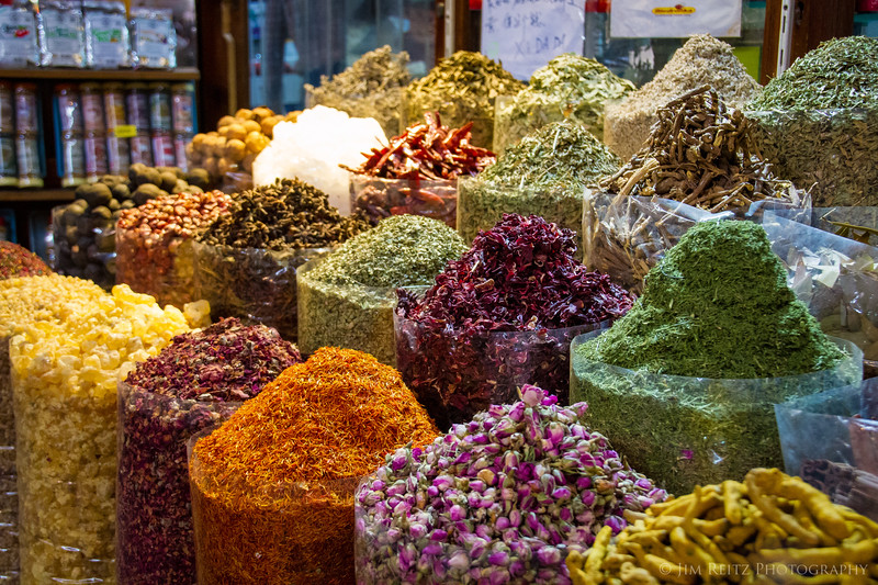 Spice souk (market) in old Dubai